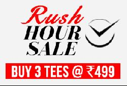 Yepme Rush Hour Buy 3 Tees @ 499/-