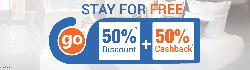 Sta for Free: Hotels Booking at Flat 50% OFF + 50% Cashback on Goibibo