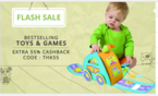 Flash Sale on Paytm Get 55% Cashback on Toys.