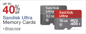 Upto 40% off on Sandisk Ultra Memeory Cards