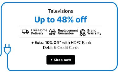 Flipkart upto 48% off on Televisions + Extra 10% Off