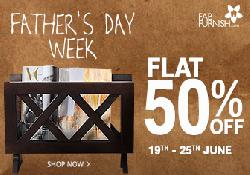 Flat 50% OFF on Everything: Furniture & Home Decor Sale.