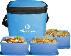 Oliveware lunch boxes - FLAT 50% OFF
