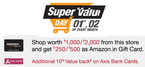 Amazon Get Rs 250 amazon.in gift card on purchase of Rs 1000