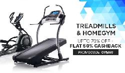 Fitness Equipments Upto 70% OFF + Extra 50% Cashback.