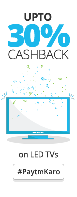 Paytm upto 30% Cashback on LED Tvs