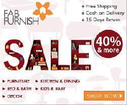 Fabfurnish Coupon :Flat 25% + Extra 30% Off on Furniture.