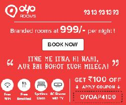 Flat 20% OFF on Hotel Bookings at OYOROOMS.