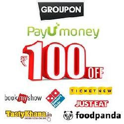 Rs 100 OFF on Rs 300 PayUMoney Coupon.( Valid on 5 Top Sites for Food and Movies)