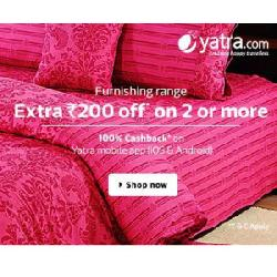 Home Furnishing Products 44% OFF + Buy 2 and Get Rs 200 OFF on Flipkart.