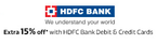 Upto 80% + Extra 15% Off on Fashion & Lifestyle products (HDFC Cards)