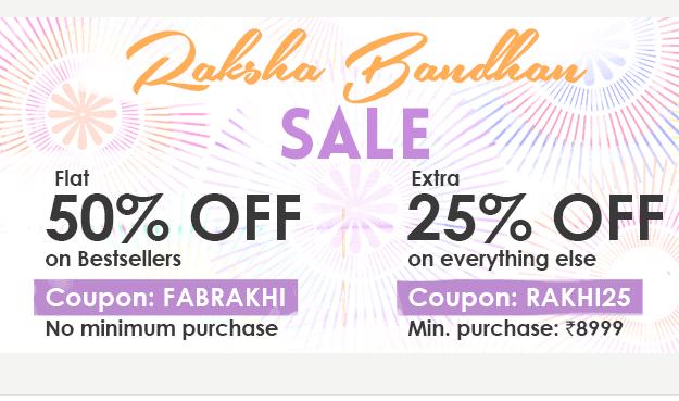 Flat 50% OFF on FABFURNISH Rakhi Special (No Minimum Purchase)