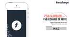 Recharge for a minimum Rs.50 and get a Rs. 50 cashback (New User Only)