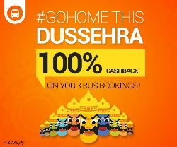 Goibibo 100% Cashback on Bus Tickets.