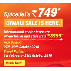 SpiceJet Diwali Sale: All inclusive Flights from Rs 749