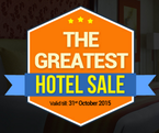 The Greatest Hotel Sale ,Flat 65% Off Plus 100% CashBack