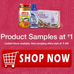 1 RS Offer: Product Samples at Rs1 Back on Amazon: 1 Rupee Deals.