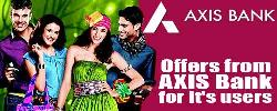 AXIS Bank Offers 15% OFF on Ebay & More on Jabong, Shopclues & Nykaa.