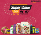 Amazon Super Value Day - Shop for Grocery and get Rs 750 Amazon Gift voucher