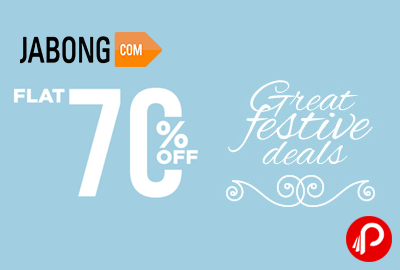 Flat 70% OFF + Extra 5% OFF + Assured Gifts on Jabong.