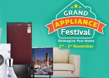 Flipkart: Appliances Festival November 2 to November BIG OFFERS: SEE Details.