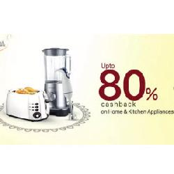 80% Cashback on Kitchen and Home Appliances at PayTm.