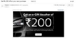 Flipkart Get an e-Gift Voucher Rs 200 off on purchase of Automotive products
