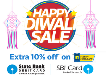 Flipkart Diwali Sale 2017 on 18th & 19th October + 10% Extra OFF Offers