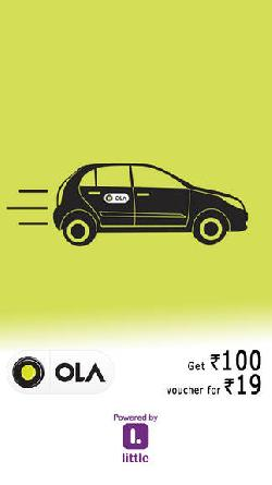 OLA Cabs Voucher Worth Rs 100 at Rs 19.