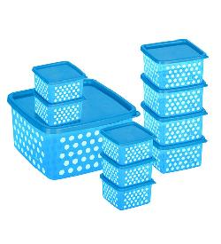 Fresia Blue 10-piece Container Set at Rs 109: Login to Get Price.