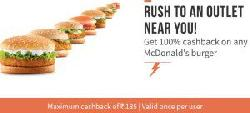 McDonalds 100% Cashback Offer - Get 100% Cashback Pay Via Freecharge