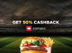 Get 50% cashback on 1st Food order