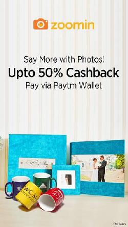 Get upto 50% Cashback when you pay via Paytm Wallet
