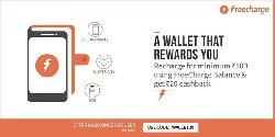 Flat Rs 20 Cashback on Recharges/Bill payments of Rs.100 or more done using Freecharge Balance only