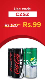 Coca-Cola Zero + Sprite Zero Combo (Pack of 4) at Rs 99