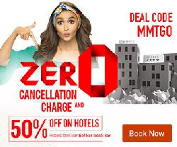 Makemytrip Hotel Booking- Flat 50% OFF + Rs 200 Mobikwik Cashback