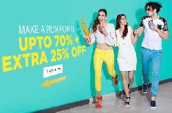 Jabong Sale upto 70% off + 25% off on Rs. 1699 + 10% Cashback