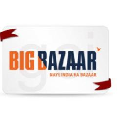 Big Bazaar Gift Voucher worth Rs 1000 at Rs 840 on Shopclues