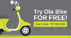 Ola Bike Rides upto Rs.70 are free (Only in Gurgaon)