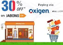 Get Extra 30% OFF + 10% Cashback on Jabong with Oxigen Wallet- OXIGEN30