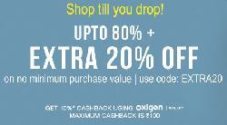 Jabong upto 80% Off + Extra 20% Off + Extra 10% Cashback