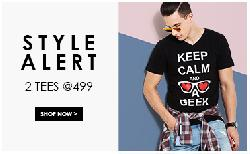Buy 2 stylish T-Shirts at Rs 499/-