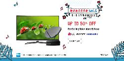 Snapdeal electronics Monsoon Sale - Upto 50% Off on Top Selling Televisions and More