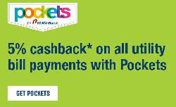 Get 5% CashBack For Every Utility Bill Payment Using Pockets