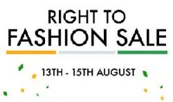 Myntra Right to Fashion Sale 13 to 15 August- Top Deals and Offers