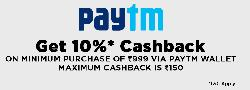 Jabong - Get 10% Cashback on minimum purchase of Rs 999/- via paytm wallet