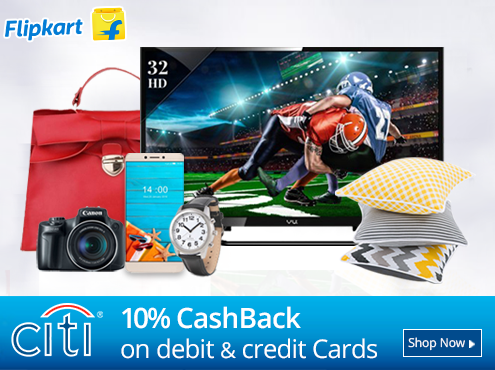 Laptops, Mobiles, TVs & More Extra 10% Cashback with Citi Bank Debit/Credit Cards