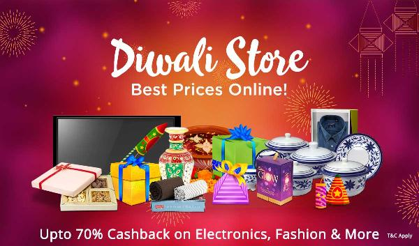 Paytm Diwali Sale Offers | Upto 70% Cashback Electronics | Clothing & More -Baapoffers.com