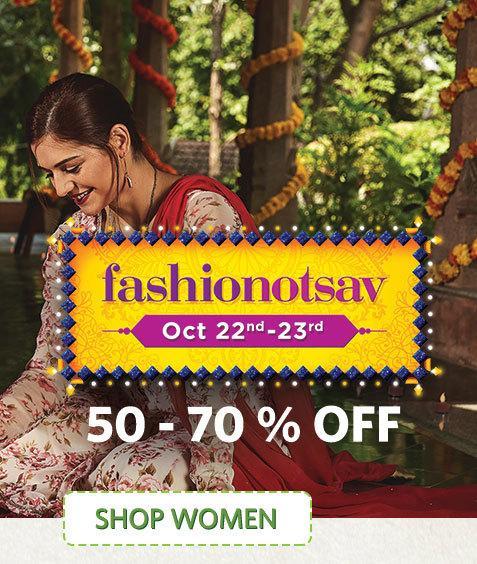 Myntra FashionOtsav Offers | Kurtis | Footwear | Jeans | 70% OFF Offers Today -Baapoffers.com