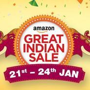 21st-24th Jan - Amazon Great Indian Festival Sale - Get 10% Cashback With HDFC Card + Extra 10% Cash